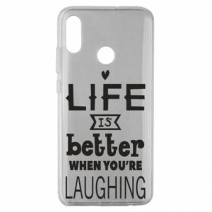 Huawei Honor 10 Lite Case Life is butter when you're laughing