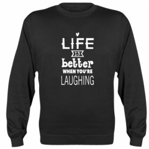 Bluza (raglan) Life is butter when you're laughing