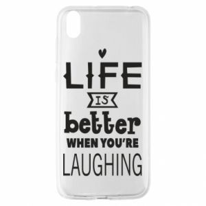 Huawei Y5 2019 Case Life is butter when you're laughing