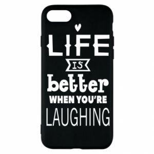 iPhone SE 2020 Case Life is butter when you're laughing