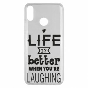 Huawei Y9 2019 Case Life is butter when you're laughing