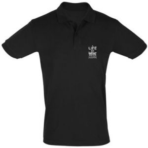 Men's Polo shirt Life is butter when you're laughing