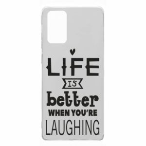 Samsung Note 20 Case Life is butter when you're laughing
