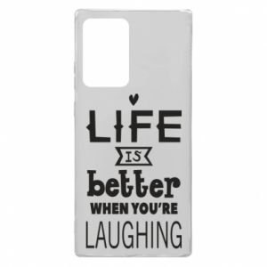 Samsung Note 20 Ultra Case Life is butter when you're laughing