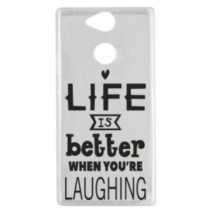 Sony Xperia XA2 Case Life is butter when you're laughing