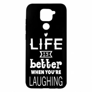 Xiaomi Redmi Note 9 / Redmi 10X case % print% Life is butter when you're laughing
