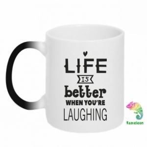 Magic mugs Life is butter when you're laughing