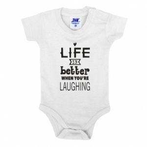 Baby bodysuit Life is butter when you're laughing