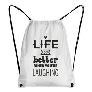 Backpack-bag Life is butter when you're laughing