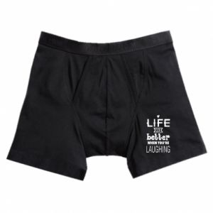 Boxer trunks Life is butter when you're laughing