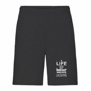 Men's shorts Life is butter when you're laughing