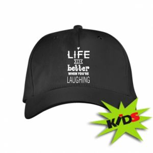 Kids' cap Life is butter when you're laughing