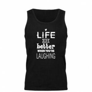 Męska koszulka Life is butter when you're laughing