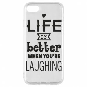 Etui na iPhone 8 Life is butter when you're laughing