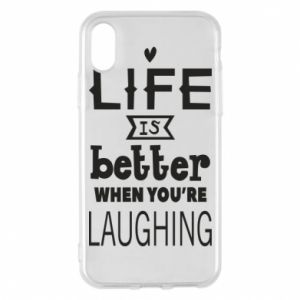 Etui na iPhone X/Xs Life is butter when you're laughing