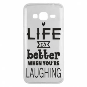 Etui na Samsung J3 2016 Life is butter when you're laughing