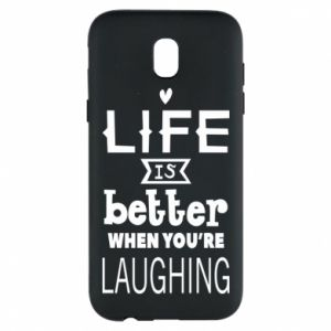 Etui na Samsung J5 2017 Life is butter when you're laughing