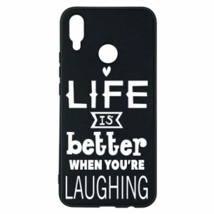 Huawei P Smart Plus Case Life is butter when you're laughing