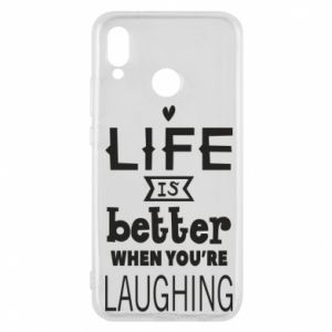 Huawei P20 Lite Case Life is butter when you're laughing