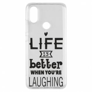 Etui na Xiaomi Mi A2 Life is butter when you're laughing