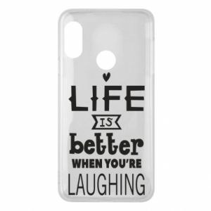 Etui na Mi A2 Lite Life is butter when you're laughing