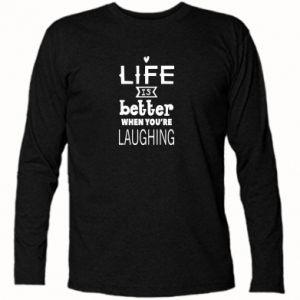 Koszulka z długim rękawem Life is butter when you're laughing
