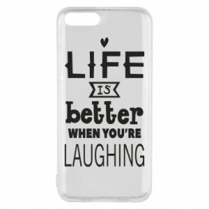 Etui na Xiaomi Mi6 Life is butter when you're laughing