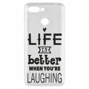 Etui na Xiaomi Redmi 6 Life is butter when you're laughing