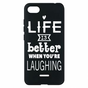 Etui na Xiaomi Redmi 6A Life is butter when you're laughing