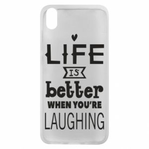 Etui na Xiaomi Redmi 7A Life is butter when you're laughing