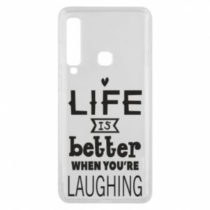 Etui na Samsung A9 2018 Life is butter when you're laughing
