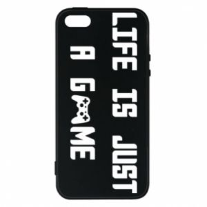 Phone case for iPhone 5/5S/SE Life is just a game