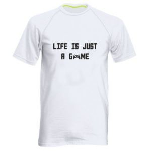 Men's sports t-shirt Life is just a game