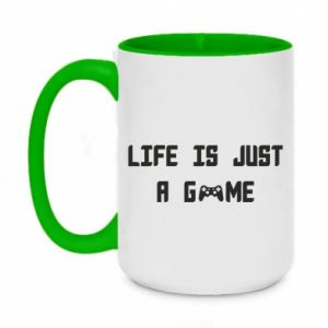 Two-toned mug 450ml Life is just a game