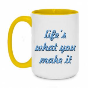 Two-toned mug 450ml Life's what you make it