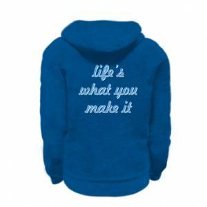 Bluza na zamek dziecięca Life's what you make it