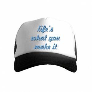 Czapka trucker dziecięca Life's what you make it