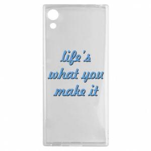 Etui na Sony Xperia XA1 Life's what you make it
