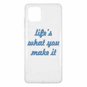 Etui na Samsung Note 10 Lite Life's what you make it