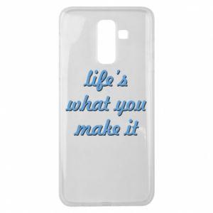 Etui na Samsung J8 2018 Life's what you make it