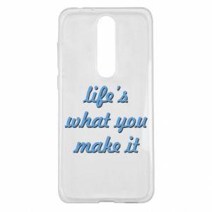 Etui na Nokia 5.1 Plus Life's what you make it