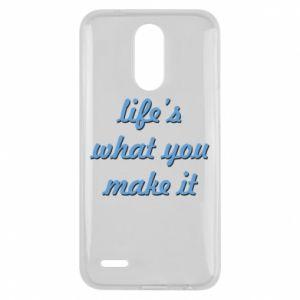 Etui na Lg K10 2017 Life's what you make it