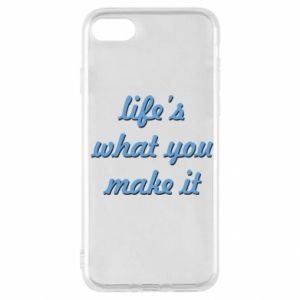 Etui na iPhone SE 2020 Life's what you make it