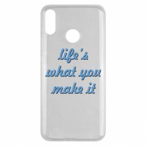 Etui na Huawei Y9 2019 Life's what you make it
