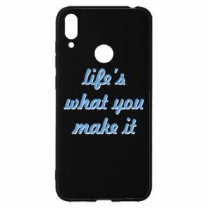 Etui na Huawei Y7 2019 Life's what you make it
