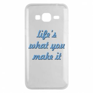 Phone case for Samsung J3 2016 Life's what you make it