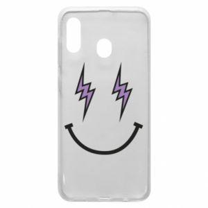 Etui na Samsung A20 Lightning smile