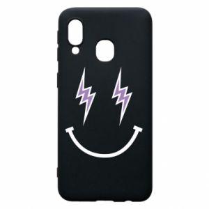 Etui na Samsung A40 Lightning smile