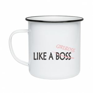 Enameled mug Like a boss