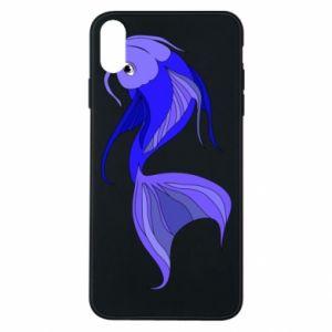 Etui na iPhone Xs Max Lilac fish